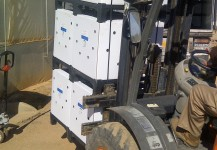 oleas en ecobox preparadas para embarque